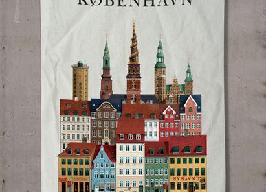 Gifts - København tea towel  - MARTIN SCHWARTZ