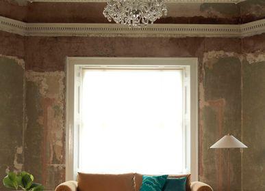 Tapis contemporains - Majestic Trinity Green, luxueux tapis touffeté à la main - OBEETEE