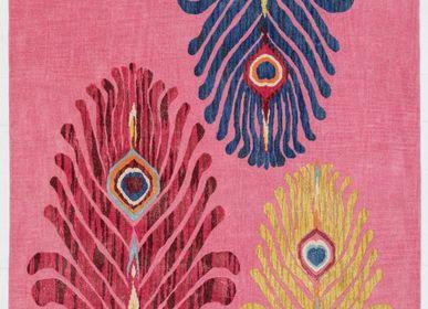 Tapis contemporains - Majestic Trinity Pink, luxueux tapis touffeté à la main - OBEETEE
