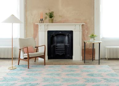 Contemporary carpets - Cross My Palms Pink, Luxurious Hand Tufted Rugs - OBEETEE
