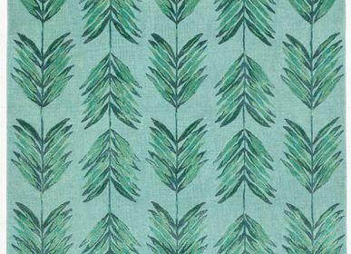 Tapis contemporains - Cross My Palms Green, tapis luxueux touffeté à la main - OBEETEE