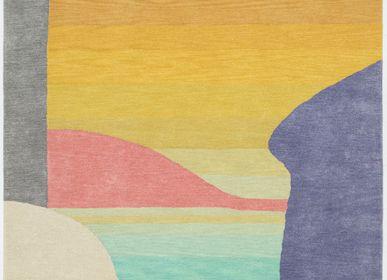 Tapis contemporains - Sunrise Haze, tapis luxueux touffeté à la main - OBEETEE