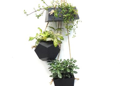 Other wall decoration - TRIO, 3 slate planters to hang on a hook - LE TRÈFLE BLEU