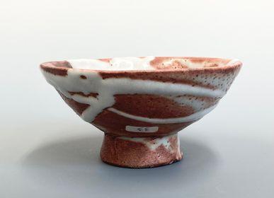 Platter and bowls - Shino Footed Bowl - YOULA SELECTION