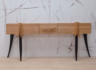 """Console table - Console Cabinet """"Black Bottom"""" - LAUDREN THIERRY"""