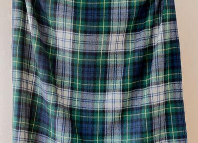Plaids - Couverture en laine recyclée en robe Gordon Tartan - THE TARTAN BLANKET CO.