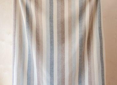 Plaids - Couverture en laine recyclée à carreaux neutres - THE TARTAN BLANKET CO.