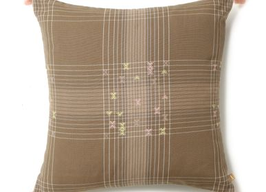 Cushions - Ombed Muddy Pink - AADYAM HANDWOVEN