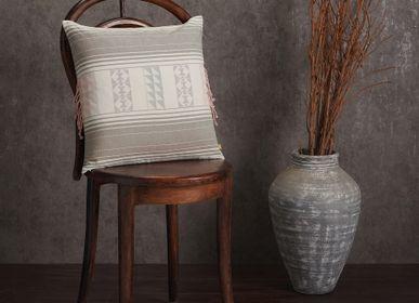 Cushions - Ombushion Grey - AADYAM HANDWOVEN
