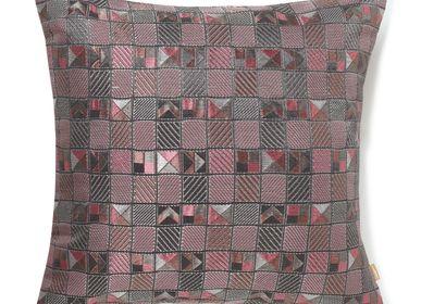 Cushions - Tetris Pink Cushion Cover - AADYAM HANDWOVEN