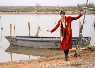 Foulards et écharpes - Écharpe Wave - rouge - BOULBAR