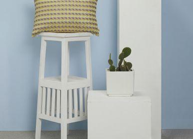 Cushions - Trick Citron Cushion Cover - AADYAM HANDWOVEN