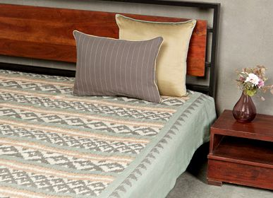 Bed linens - Surface Mint Bedcover - AADYAM HANDWOVEN