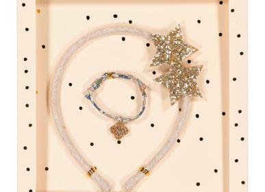 Accessoires cheveux - Coffret cadeau - Serre-tête & bracelet  - LUCIOLE ET PETIT POIS
