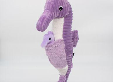 Soft toy - Papadou the Seahorse Purple - Les Ptipotos - LES DEGLINGOS