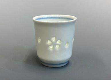 Mugs - Suishyobori (crystal carving) Sake cup  - YOULA SELECTION