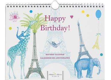 Papeterie bureau - Calendriers d'anniversaires - ALIBABETTE EDITIONS