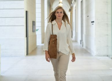 Bags and totes - DIVINE SUEDE LEATHER BAG - Made in France - AMWA AND CO