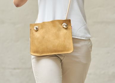 Clutches - ANNA SUEDE LEATHER BAG - AMWA AND CO