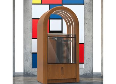 Wardrobe - Jukebox Orphéau | Série Arche | Noyer - JUKEBOX ORPHÉAU