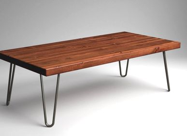 Coffee tables - Rustic Coffee Table with Hairpin Legs - LIVING MEDITERANEO
