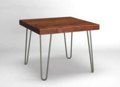 Night tables - Rustic Side Table with Hairpin Legs - LIVING MEDITERANEO