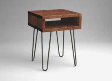 Night tables -  Side Table Vintage Box style with Hairpin Legs - LIVING MEDITERANEO