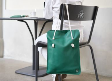 Bags and totes - DIVINE SMOOTH LEATHER BAG - MADE IN FRANCE  - AMWA AND CO