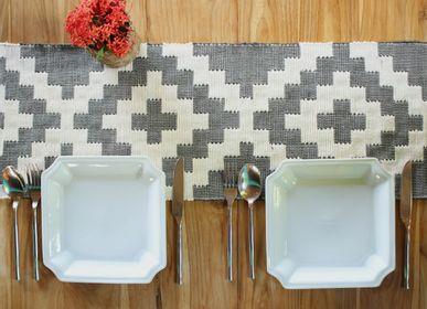Table linen - Stupa Handwoven Interlocking Tapestry Cotton Table Runner - OCK POP TOK