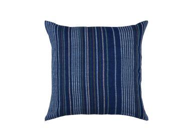 Fabric cushions - Stripy Handwoven Natural Dye Cotton Cushion Cover - OCK POP TOK