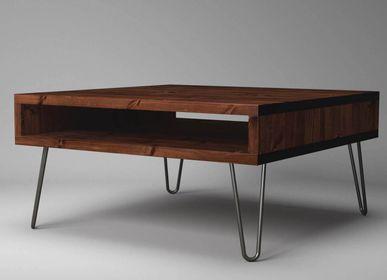 Objets design - Table basse Box avec pieds en épingle à cheveux - LIVING MEDITERANEO
