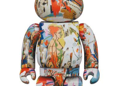 Sculptures, statuettes and miniatures - Bearbrick Andy Warhol x JM Basquiat #4 - ARTOYZ