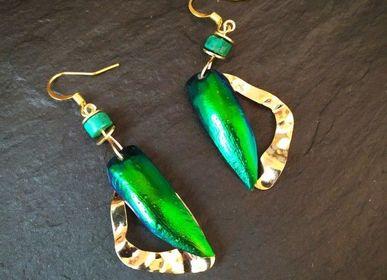 Jewelry - Gold wave earrings - L'ATELIER DES CREATEURS