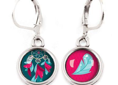 Jewelry - Earrings Les Minis Attrape-rêves / Plume - LES MINIS D'EMILIE FIALA