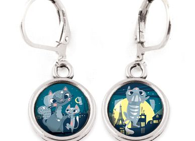 Jewelry - Earrings Les Minis Famille Chats / Chaton - LES MINIS D'EMILIE FIALA
