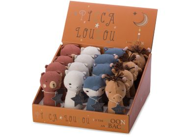 Cadeaux - Picca Loulou Squeaker assortment in display 12cm  - PICCA LOULOU