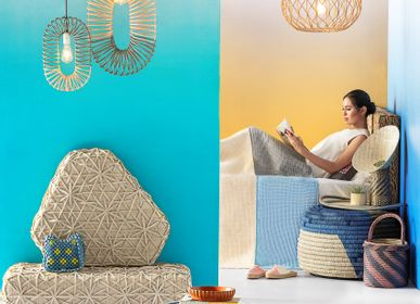 Fabric cushions - TADECO HOME T'nalak Ottoman Pouf  - DESIGN PHILIPPINES HOME