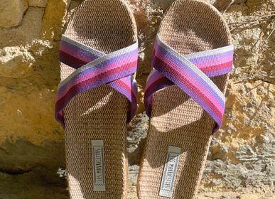 Shoes - Les Mauricettes d'Eliane, women's linen tap - LES MAURICETTES