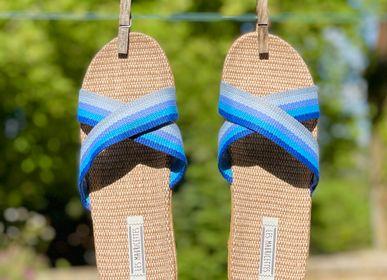 Shoes - Les Mauricettes de Sabine, claquettes femme croisées - LES MAURICETTES