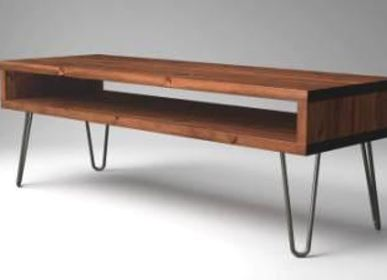 Coffee tables -  TV Stand with Original Hairpin Leg - LIVING MEDITERANEO