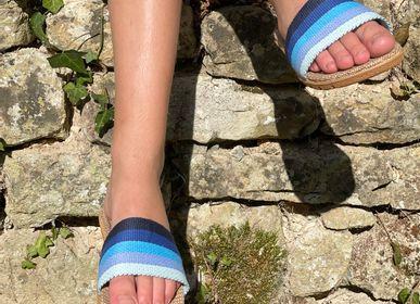 Shoes - Les Mauricettes de Berthe, claquettes femme rayées - LES MAURICETTES