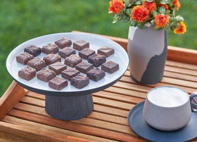 Everyday plates - Cake Salver Medium, Double Colour - ESMA DEREBOY HANDMADE PORCELAIN