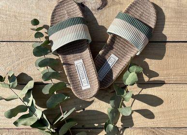 Shoes - Les Mauricettes d'Aglae, canvas and linen tap - LES MAURICETTES