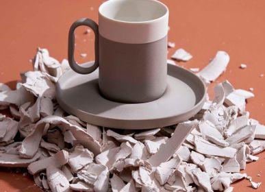Mugs - Capsule Espresso Cup with Saucer - ESMA DEREBOY HANDMADE PORCELAIN