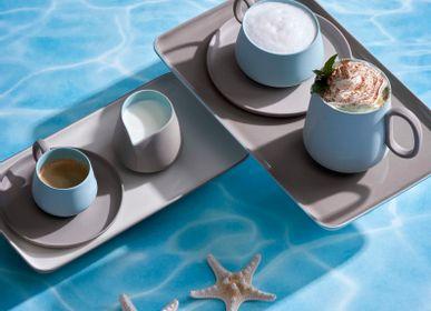 Everyday plates - RECTANGLE Double Color Plate Set - ESMA DEREBOY HANDMADE PORCELAIN