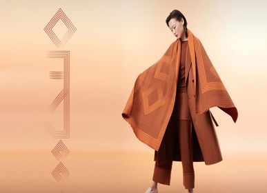 Scarves - Handcrafted cashmere and silk felt shawl - SANDRIVER MONGOLIAN CASHMERE