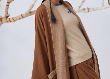 Homewear - NATUREL undyed oversized cashmere robe - SANDRIVER MONGOLIAN CASHMERE
