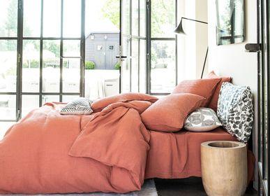 Bed linens - Simplement Gaufré - Cotton Double Gauze - BLANC CERISE