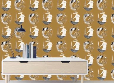 """Decorative objects - """"Monsieur and Madame Paris"""" wallpaper a limited edition and signed by Oriana Fierro  - ARTOO ATELIER"""