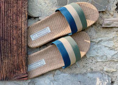 Shoes - Les Mauricettes d'Arsene, striped men's tap - LES MAURICETTES